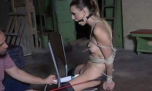 Submissive young girl in the air stockings agrees to be a sex trinket