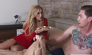 Sex-crazed of age Amber Lynn fucks her daughter's boyfriend