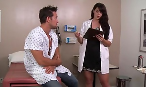 Sexy swart haired doctor likes fucking her patients