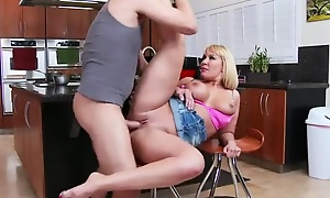 Making love half-starved MILF fucks her son's collaborate in the caboose