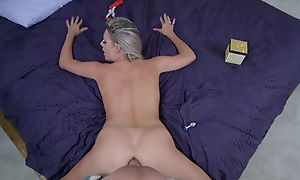 POV has wonderful sex yon huge flannel in her beautiful pussy