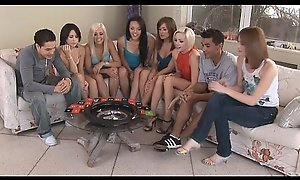 American teens playing a funny sex game and shafting
