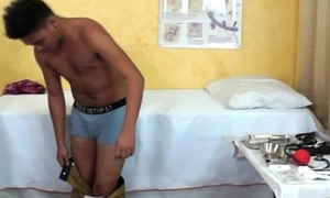 Teen asian twink gets ass check-up from medico