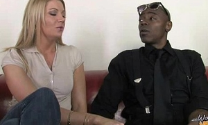 Cougar with Fat Chest Seduces Young Black Guy 3