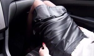 Sissified doctor gives blowjob in rub-down the car pov
