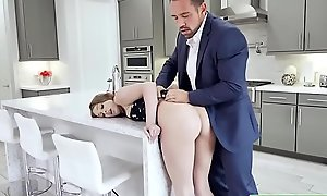Teen babe analed by stepdads boss