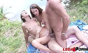 Petite Teens Gina Gerson &_ Cindy Shine Assfucked at a Picnic