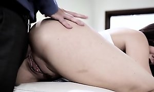 19yo stepdaughter gets anally doggystyled