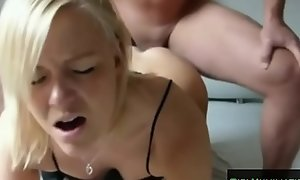 Homemade Hot Tow-haired Gets Torturous Anal Sex From Big Cock46